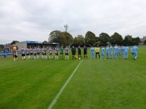 The Wood played in sky blue this afternoon
