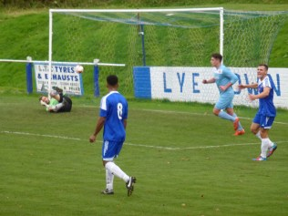 First goal to the Wood brings some consternation among Lye players