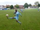 Skilful soccer in action. Delightful sport.