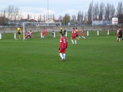 Hollbeach score a fine equalising goal.