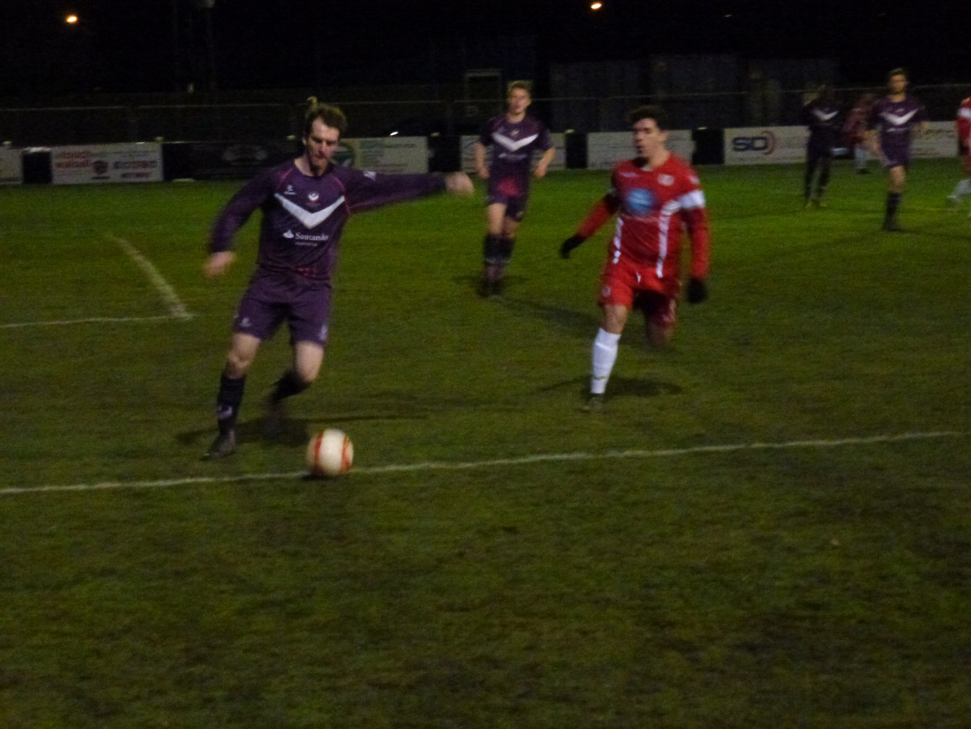 An fine early clearance kick by Loughborough . This was to become a hard, yet fair contest