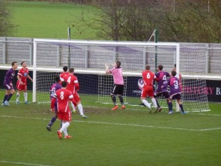 Loughborough on the attack and the Wood's keeper is put to the test.