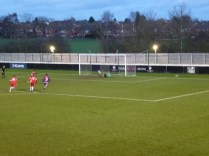 Loughborough keeper saves a penalty shot and the referees blows his whistle to bring to an end a thrilling game of football and an outstandingly fine performance by Walsall Wood