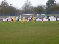 The Wood respond and score their first goal, also in the first half. Shepshed show concern.