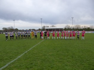 Firm handshakes all round, before what turned out to be a humdinger of a match.