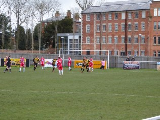 Rocester score the first of their five goals