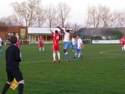 A hard-fought cup tie, which Lichfield dominated in the first half