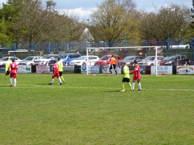 Highgate goalkeeper being put to the test.