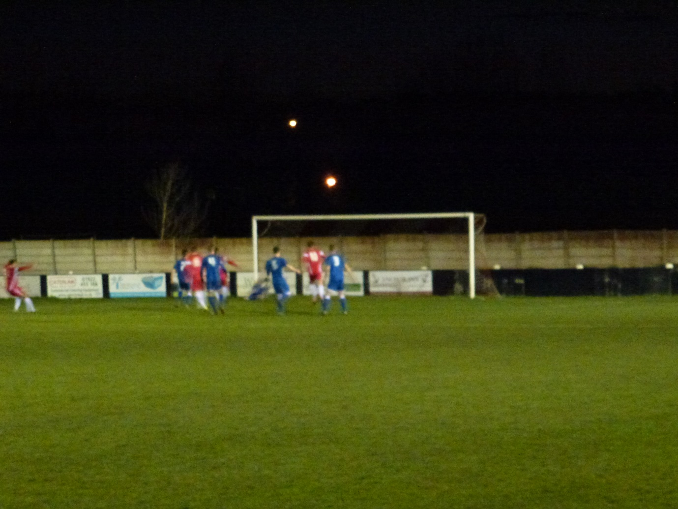 The equalising goal in the second half, where the character of play was different