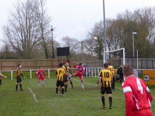 Good defensive positioning by Rocester as the Wood try everything to score a goal, to no avail