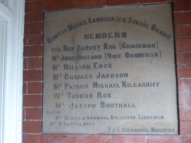 The foundation stone for the original Central School building, opened in 1893. Who were these people?