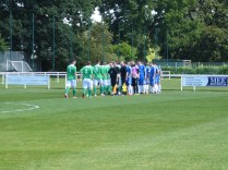 WWFC played in their blue strip at Brocton