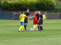 Tividale played in their bright yellow home strip today.
