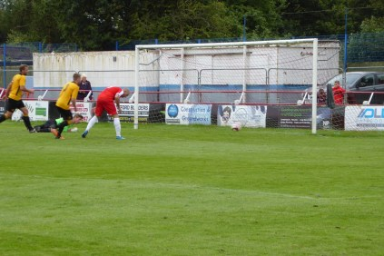 So nearly the equalising goal to the Wood. That would come later in the match