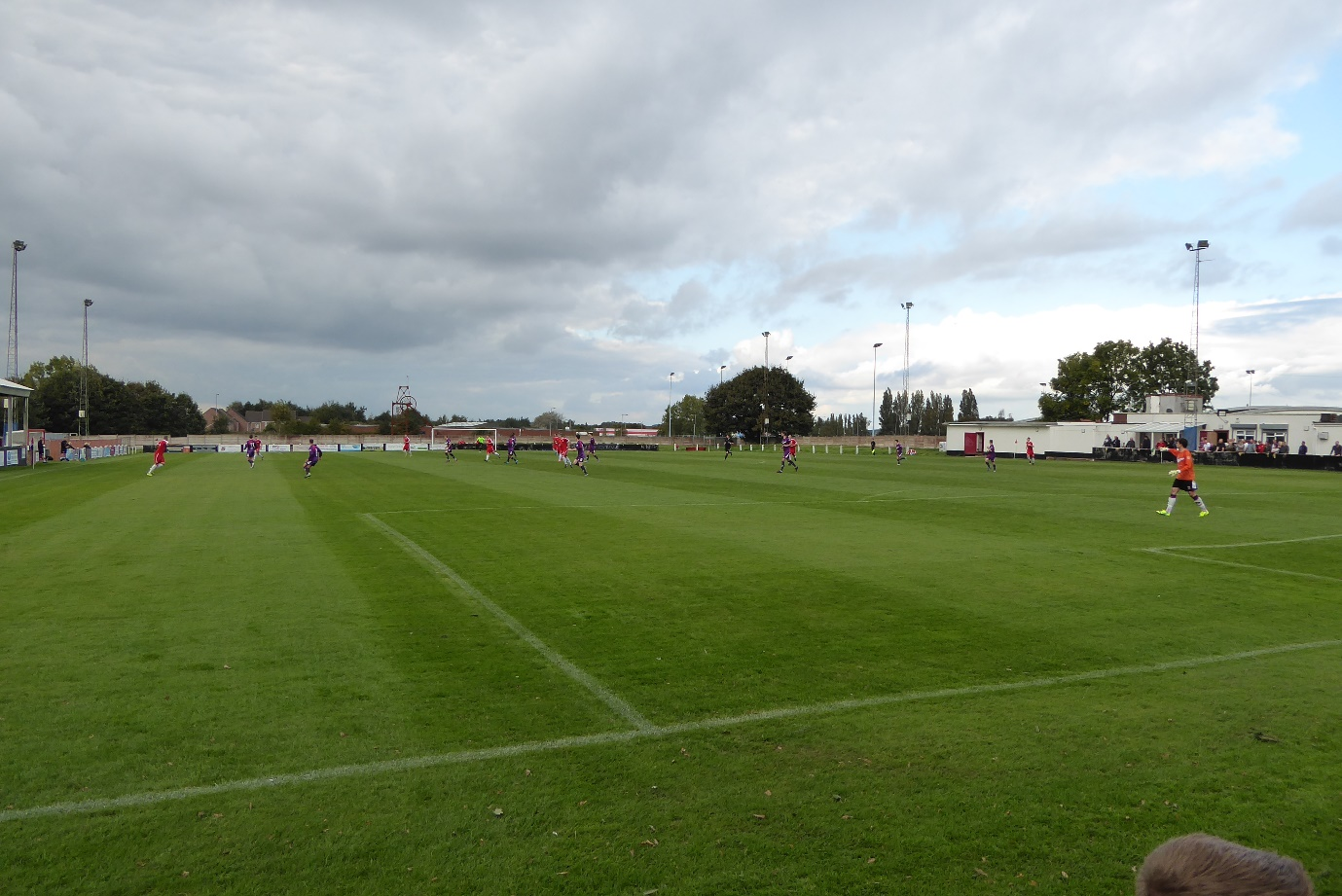 A panoramic view as the game got under way