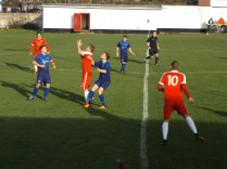 Some gritty determination evident in both teams throughout the match