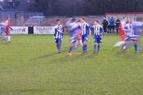 Team celebration as Shawbury score another goal