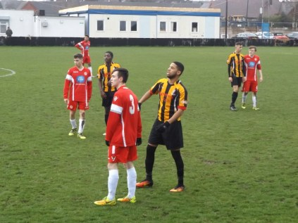 Romulus turned up the pressure to strive to score a goal with effort, concentration and determination.
