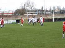 Cadbury wriggle a way through- without tumbling down- to score the equalising goal. Game on!