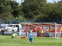 The Wood respond with a series of relentless full-frontal attacks on Whitchurch goal-mouth. Love soccer at Walsall Wood!