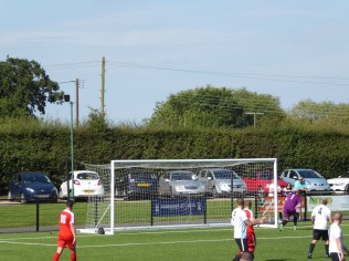 first goal to the Wood . There would be seven by the end of the match