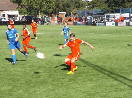 The final moments of the game approach but the Wood's determination did not falter, nor did Whitchurch's .