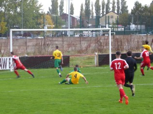 First goal in the first half and the Wood find a way through Bolehill's defense