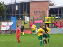 A colourful moment in the second half as the referee has a word…