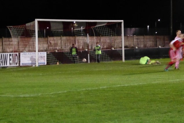 The first goal to the Wood, and a rare moment of silence falls before the home spectators rise and cheer, and the visiting players are left lost for words…which made for a welcome, if brief respite.