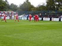 Celebratory moment after the first goal. The Wood's team spirit shone brightly this afternoon.