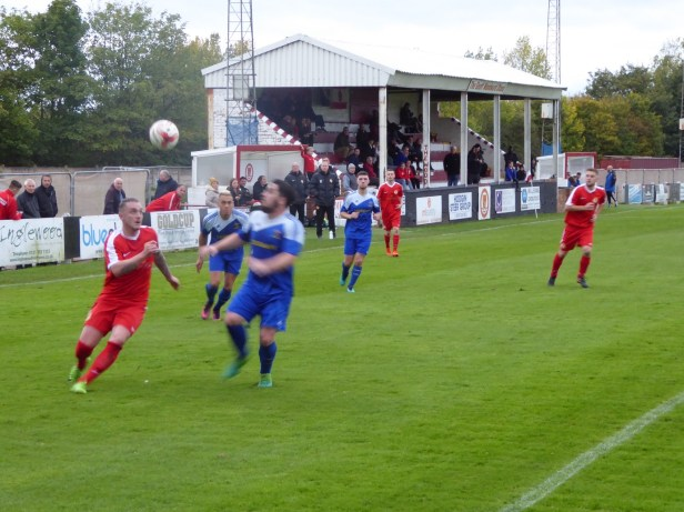 Pershore on the attack in the second half