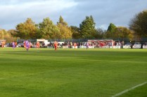 This match was played out in true sporting spirit and bright sunshine. ,