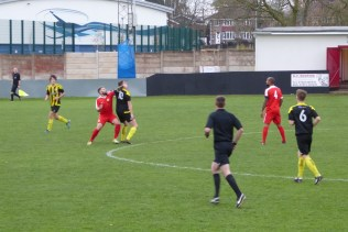 The Wood dominated in the centre with controlled football, frustrating and stopping several attacking moves by Holbeach.