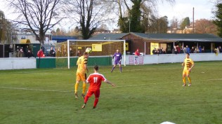 First half and the Wood try to break though as they attack Stourport goalmouth, increasing the pressure incrementally, but to little avail today.