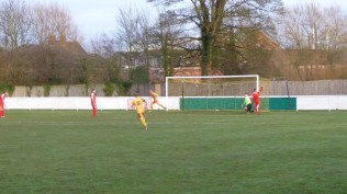Then a moment of madness as Stourport break through the Wood to score a second goal. Ouch