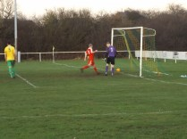 Second goal to the Wood. Bolehall's goalkeeper was put to the test today.