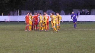 And a quarrelsome Stourport again show their definition of team spirit before the referee intervenes. Amazing. Second half of the second half.