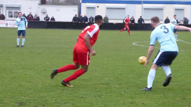 First half and a well-oiled Wood squad are on the attack as Studley respond.