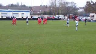 Players celebrate the first goal as thrilled home supporters reset their woolly hats . How would Studley respond?