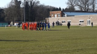 Walsall Wood played in red, Copsewood in blue