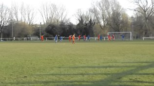 Early in the second half and the ball seems to go in to the Wood net…but, offside, chaps.