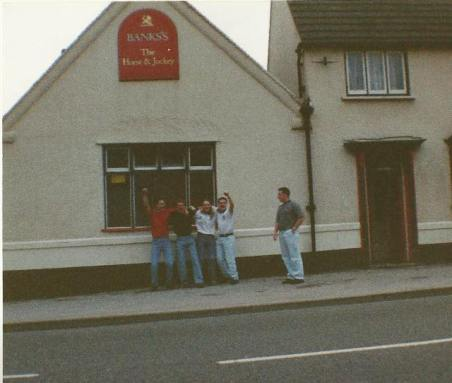 The first Horse & Jockey, early 1990s before demolition, by Chris Dawson