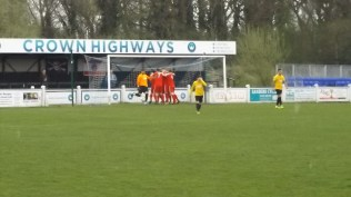 The Wood celebrate their first goal . How will Warwick respond?