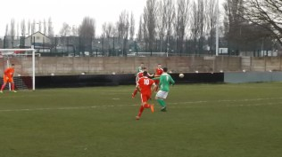 Early in the first half and the Wood seem to be taking longer to get into their stride than Brocton do. This is going to be a challenging match then; can feel it in my bones.