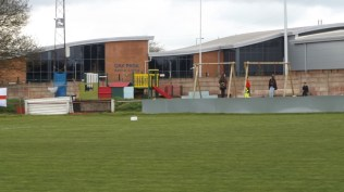 The play facilities are complete and being put to good use. A Community Football Club, this.
