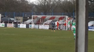 Later in the first half and joy mixed with relief as the Wood manage to break through to score their first goal. Home crowd cheer and heave a sigh of relief. Visiting fans from Brocton and other interested parties are seen to frown and discretely gnash their teeth/dentures. Love non-league soccer.