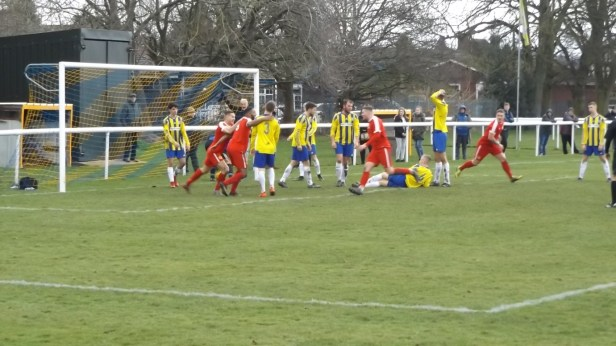 Wood score their second and equalising goal and Uttoxeters goalkeeper goes all broody dropping to his knees and covering the ball, refusing to release it. Never seen this before. One for the album, this.