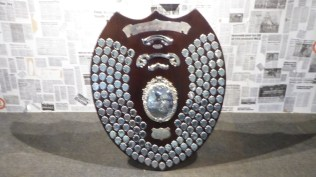 The league champions shield. Big, and heavy, too