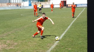 One of the Wood's super skilful players in action, having just regained possession of the ball. Smashing skill.