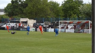 A beautifully sweet goal, scored by the Wood's number 7. First half